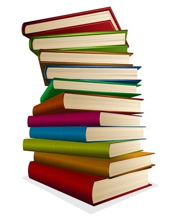 stapel papieren: illustratie stapel boeken op een witte Stock Illustratie