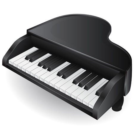 black piano: illustration with black piano  musical instrument