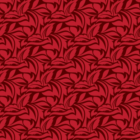 Red seamless wallpaper pattern  Stock Vector - 12992516