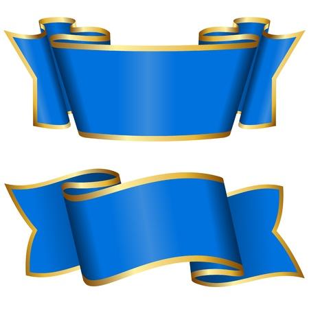 ruban or: Blue Collection de ruban Illustration
