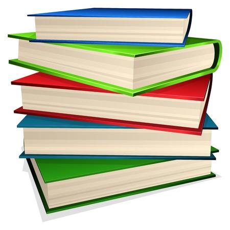 문학의: 흰색에 고립 된 책의 그림 파일