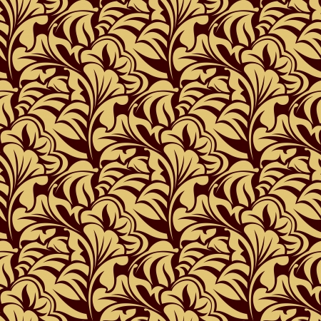 leafs: Brown seamless wallpaper pattern