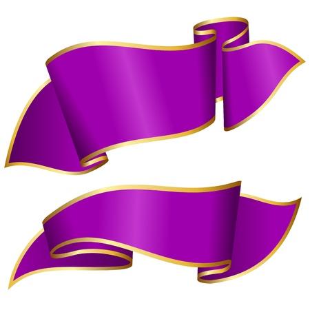 ribbon: Purple ribbon collection  Illustration