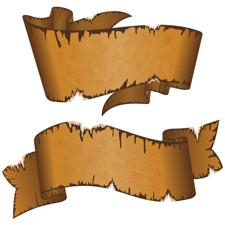 roztrhaný: Kolekce odlišný špinavý starý stuha s otrhané okraje