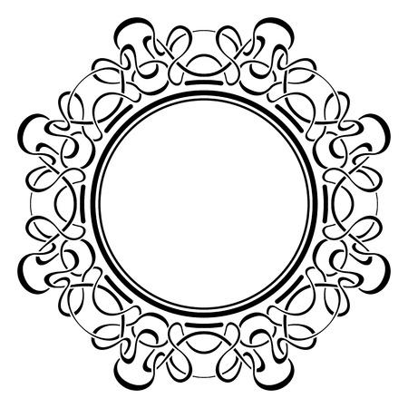 Black frame with ornamental border Illustration