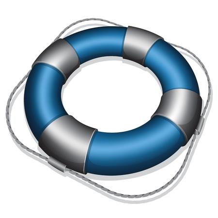 life buoy: Vector illustration of marines blue life buoy Illustration