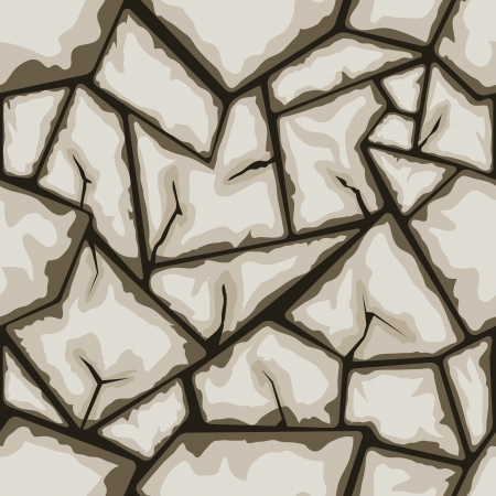 ashlar: Vector illustration of brown stone seamless pattern Illustration