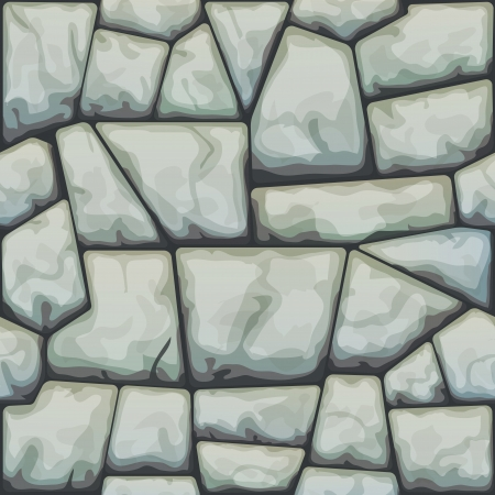 paredes de ladrillos: ilustración de piedra gris sin patrón