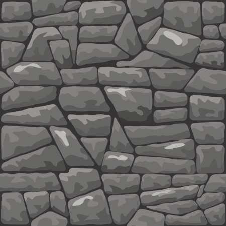 stone mason: Vector illustration of grey stone seamless pattern