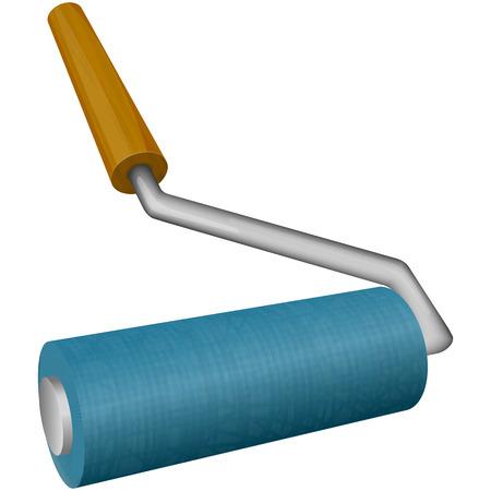 roller brush: ilustraci�n del cepillo de rodillo Vectores