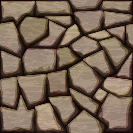 ashlar: illustration of brown stone seamless pattern