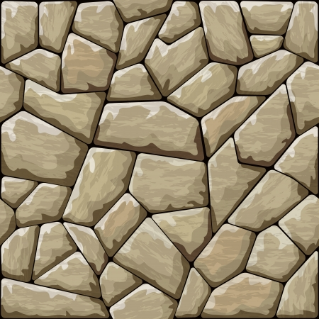 Vector illustration of brown stone seamless pattern Vector