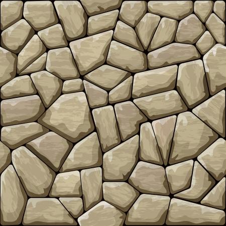 stone texture: Vector illustration of brown stone seamless pattern Illustration