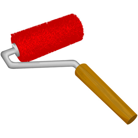 rollerbrush: Vector illustration of roller brush on white background Illustration