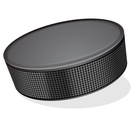 Vector illustration of black hockey puck on white background Vector