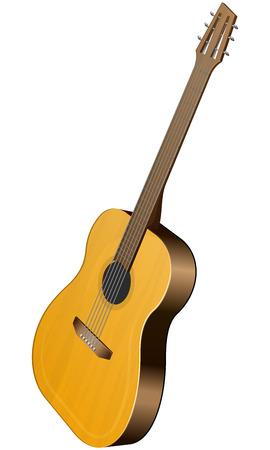 guitarra clásica: Ilustraci�n del vector de la guitarra cl�sica en el fondo blanco