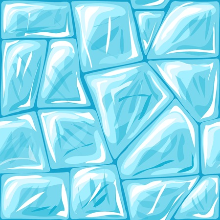 ice brick: Vector illustration of ice brick seamless pattern