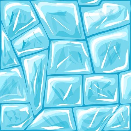 ice brick: Vector illustration of ice brick seamless pattern