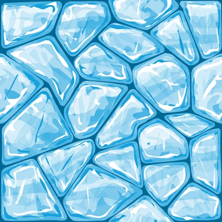 ice brick: Vector illustration of blue ice brick seamless pattern Illustration
