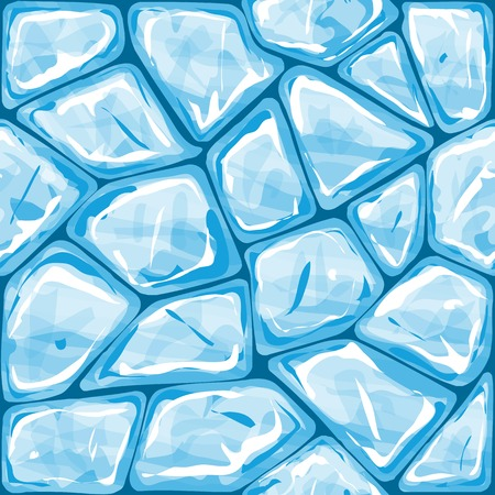 Vector illustration of blue ice brick seamless pattern Vector