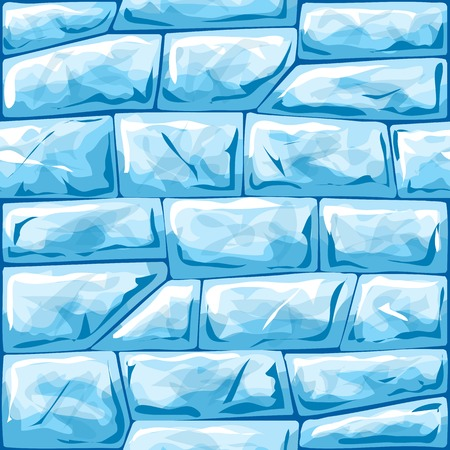 Vector illustration of blue ice brick seamless pattern Иллюстрация