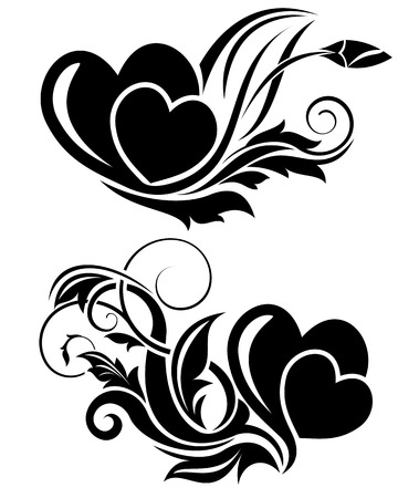 element: Vector illustration of valentine day floral design element