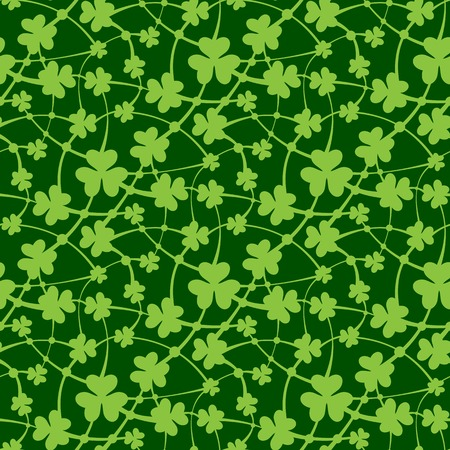 patrik: Vector illustration of St. Patrick day seamless pattern Illustration