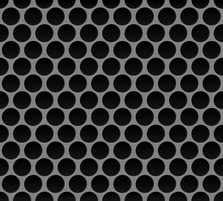 steel grille: Vector illustration of Metal round grid seamless pattern