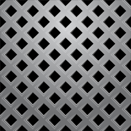 grid pattern: Vector illustration of Metal grid seamless pattern