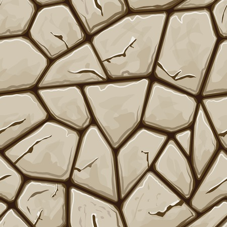 stone background: simple brown stone seamless pattern. Vector illustration Illustration