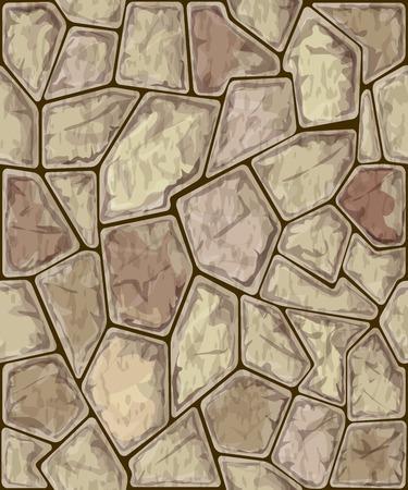 rock stone: Vector illustration of simple stone seamless pattern