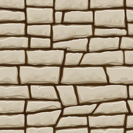 cobblestone: simple brown stone seamless pattern. Vector illustration Illustration