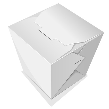chinese take away container: Noodle box. Take away food. Vector illustration