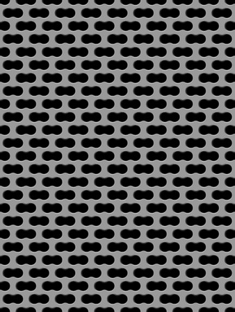 perforated surface: Vector illustration of Metal grid seamless pattern
