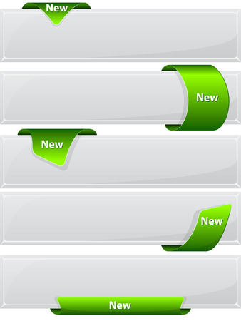 green ribbon: Collection web button with green ribbon.