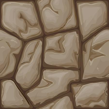 simple brown stone seamless pattern. Vector illustration Illustration
