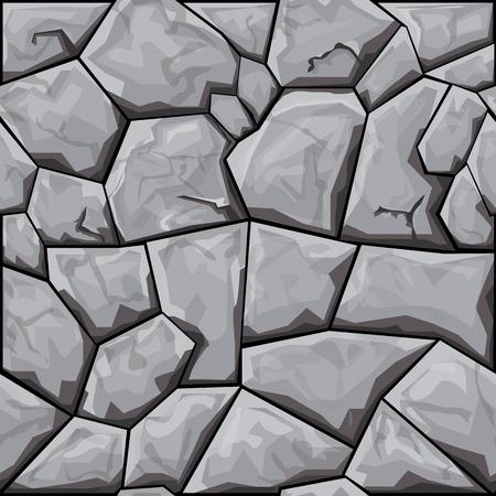 stone background: simple grey stone seamless pattern. Vector illustration Illustration