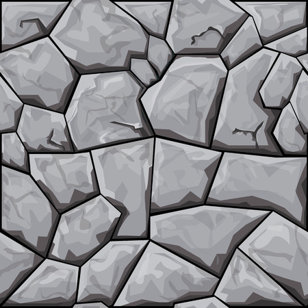 kőtörmelék: simple grey stone seamless pattern. Vector illustration Illusztráció