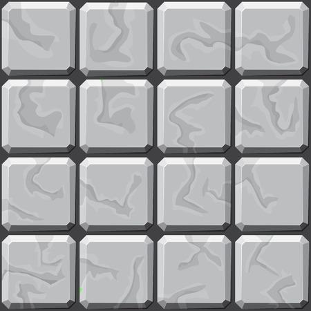 stones: simple grey stone tiles seamless pattern. Vector illustration