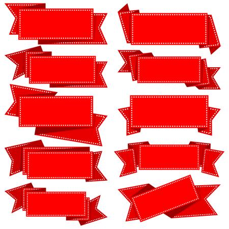 ribbon: Big collection red ribbon with dot border
