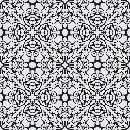 endlos: Einfache schwarze nahtlose Tapetenmuster Vektor-Illustration