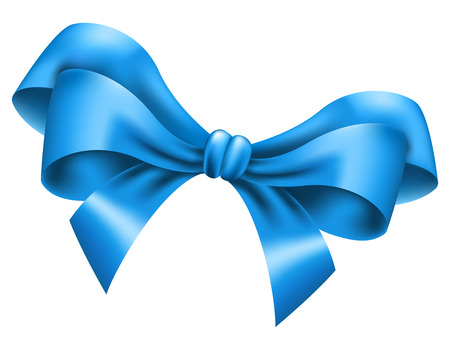 blue bow: Big blue bow on white background. Vector illustration Illustration
