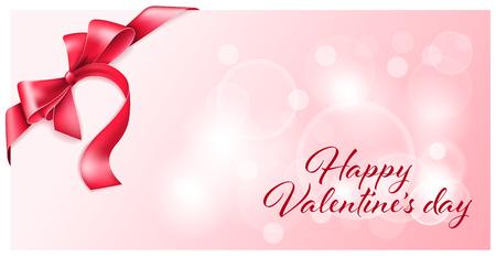 tarjeta de regalo con un lazo para el día de San Valentín
