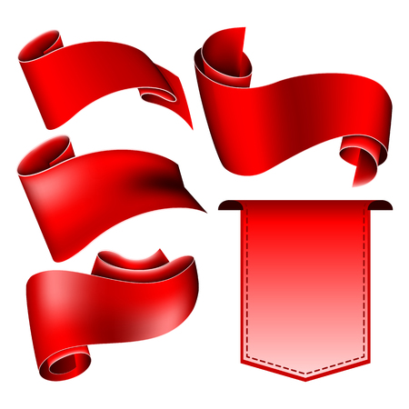 collection red: Collection of 5 red ribbon.