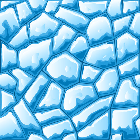 ice brick: Blue ice brick seamless pattern.