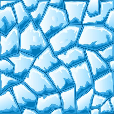 ice brick: Blue ice brick seamless pattern.