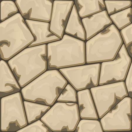 cobblestone: simple brown stone seamless pattern. illustration