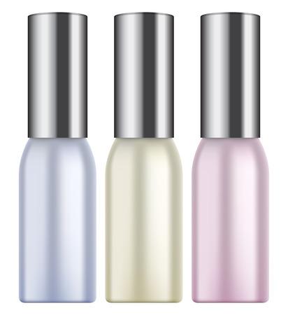 photorealism: Vector illustration of Photorealistic makeup bottle on white background