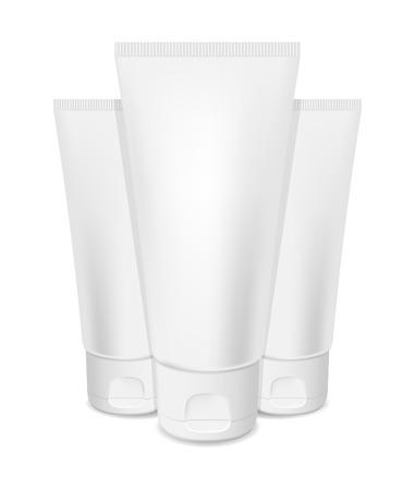 photorealism: Photorealistic vector cream tubes on white background