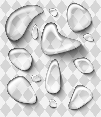 drops of water: Photorealistic vector water drops on white background